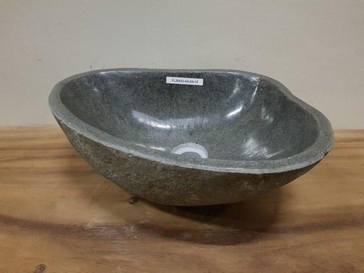 Waskom natuursteen FL20432 - 43x32x15cm