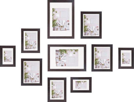 Fotolijst - Henzo - Modern - Fotowand - 10 lijsten - Donkerbruin