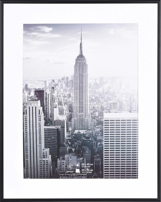 Fotolijst - Henzo - Manhattan - Fotomaat 40x50 cm - Zwart