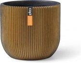 Capi Pot bol groove 8h7cm zwart/goud