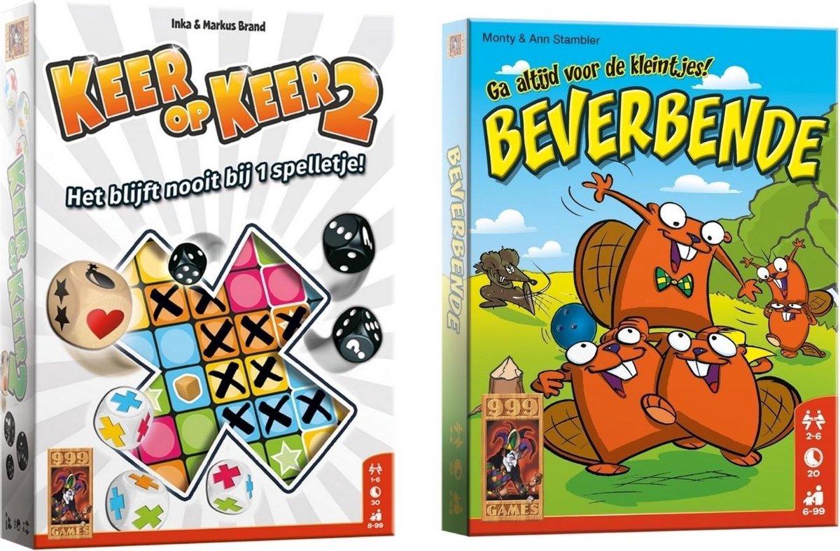 Spellenbundel - Dobbelspel - 2 Stuks - Keer op Keer 2 & Beverbende
