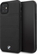 BMW Leather Backcover iPhone 11 hoesje - Zwart