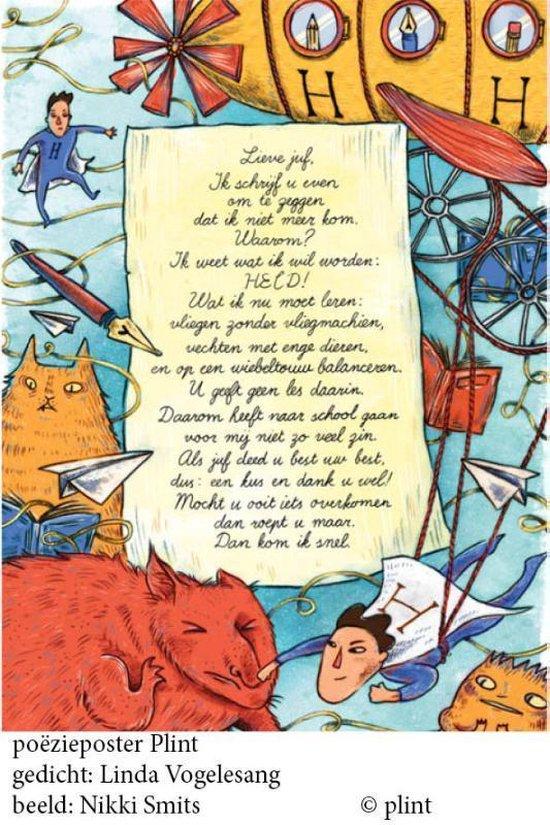 Plint 33 - Poeziekaart Vogelesang Lieve juf - Nikki Smits  