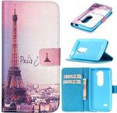 iCarer Eiffel tower wallet case hoesje LG Stylus 2