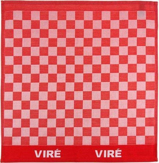 Viré Kitchen Blok Theedoek (6 Stuks) - 60x60 cm - Rood