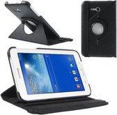 Samsung Galaxy Tab 3 7.0 Lite T110 T111 Hoes Cover 360 graden draaibare Case Beschermhoes zwart