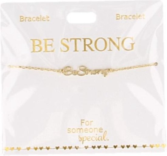 Armband Be strong go, gold plated