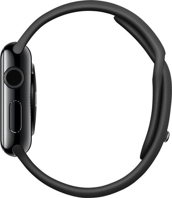 Apple Watch Series 1 Smartwatch 38mm Roestvrij staal -  Zwart sportband