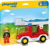PLAYMOBIL 1.2.3 Brandweerwagen met ladder - 6967