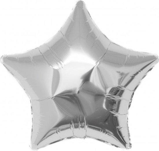 Folieballon Ster zilver 45x45 cm