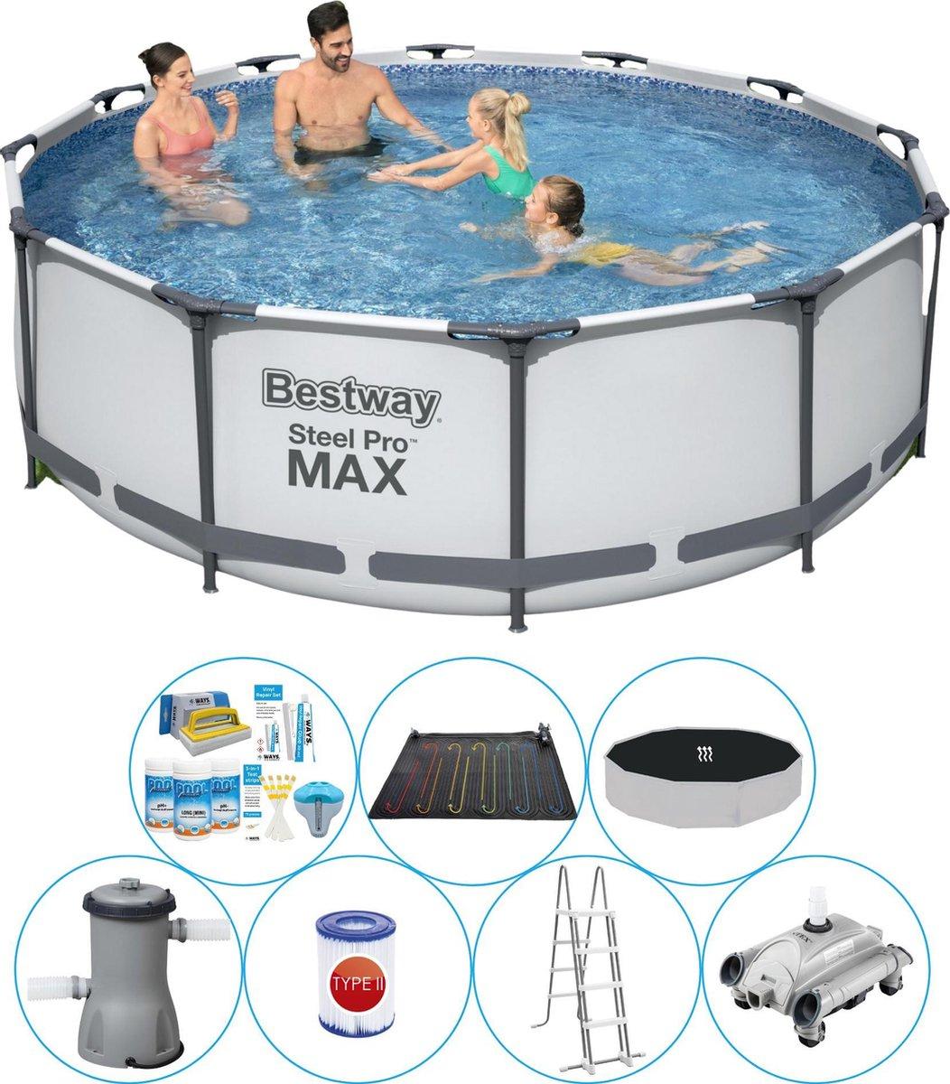 Zwembad Inclusief Accessoires - Bestway Steel Pro MAX Rond 366x100 cm