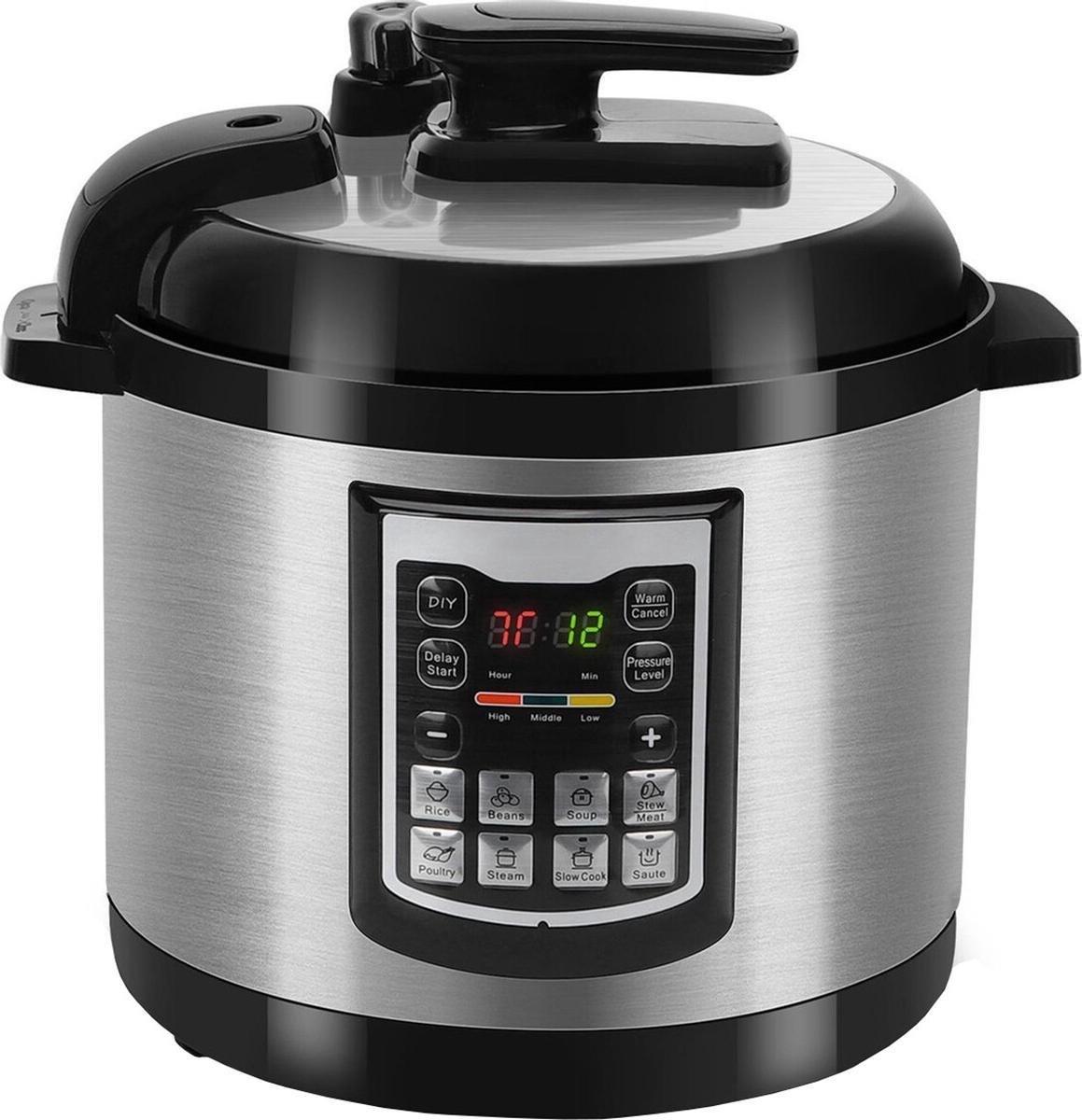 Qualu Multicooker Igia Miani Timer 6 Liter Zwart/Zilver online kopen