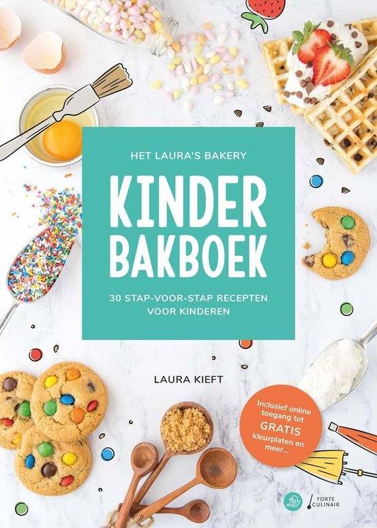 Boek cover Het Lauras Bakery Kinderbakboek van Laura Kieft (Hardcover)
