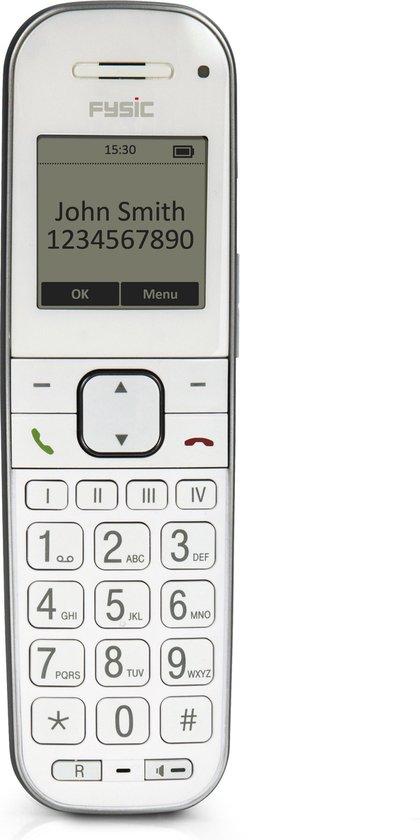 Fysic FX-9000 Senioren DECT telefoon - Extra luid gespreksvolume voor slechthorenden - Wit