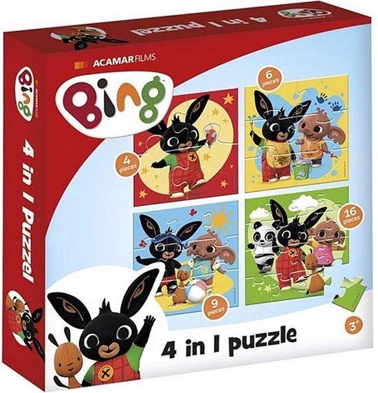 Bing - 4in1 puzzelset - 4x6x9x16 stukjes - kinderpuzzel