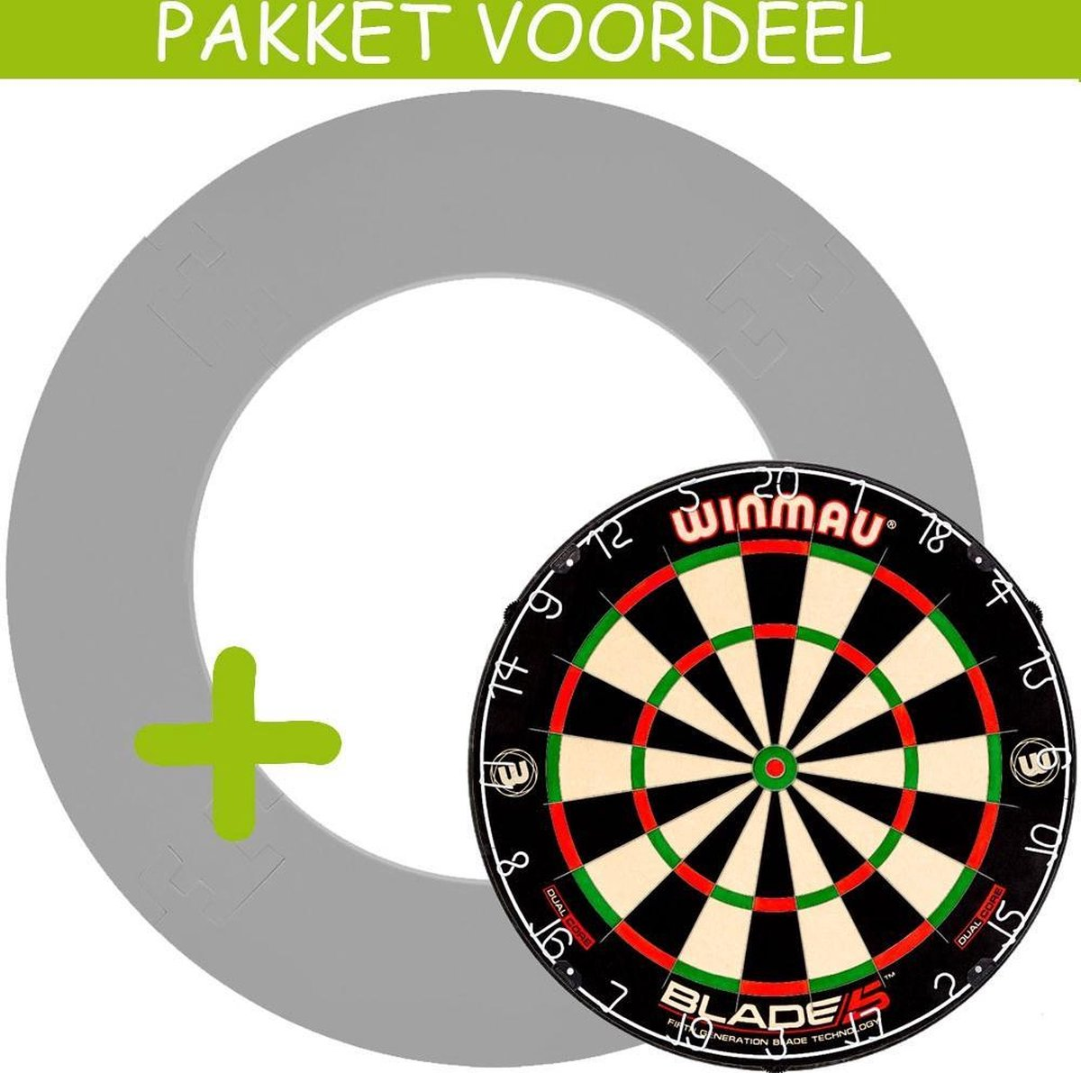 Dartbord Surround VoordeelPakket - Dual Core - EVA Surround-- (Grijs)
