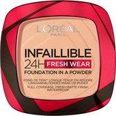 L'Oréal Paris - Infaillible 24H Fresh Wear Foundation in a Powder - 245 Golden Honey - Foundation en poeder in één - 8gr