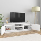 vidaXL Tv-meubel 120x30x35,5 cm spaanplaat hoogglans wit  VDXL_800573