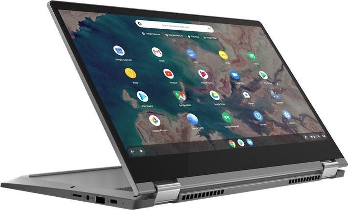 "Lenovo IdeaPad Flex 5 DDR4-SDRAM Chromebook 33,8 cm (13.3"") 1920 x 1080 Pixels Touchscreen Intel® 10de generatie Core™ i3 4 GB 64 GB eMMC Wi-Fi 6 (802.11ax) Chrome OS Grafiet, Grijs"
