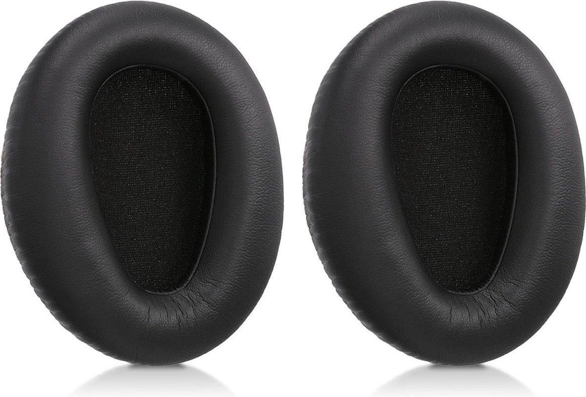 kwmobile 2x oorkussens voor Sony MDR-10RBT / 10RNC / 10R koptelefoons - imitatieleer - voor over-ear-koptelefoon - zwart