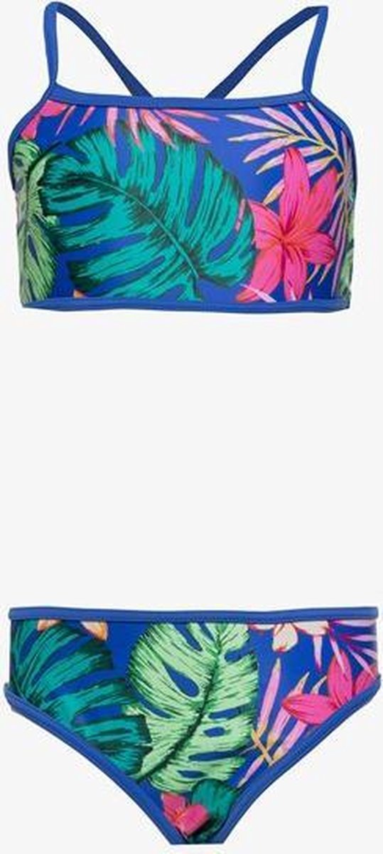 Osaga meisjes bikini met bloemenprint - Blauw - Maat 128
