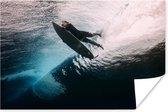 Surfer duikt poster papier 120x80 cm - Foto print op Poster