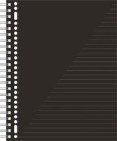 Kangaro Schrift A4 Gelinieerd Papier Zwart/wit 80 Pagina's