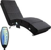 Casaria Relax stoel - Massagestoel - Ligstoel - Lounge - verwarmd - zwart stof