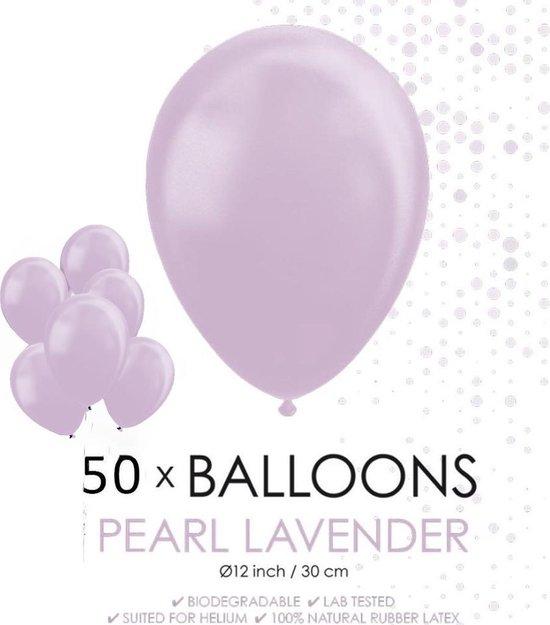 Globos Ballonnen 30,5 Cm Latex Lavendel Parelmoer 50 Stuks