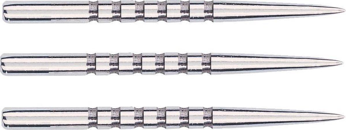 Unicorn Steeltip Dartpunten 34.90 Mm 6 Grooves Zilver 3 Stuks