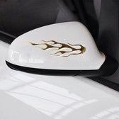 4 STUKS Vlampatroon Autostickers (goud)
