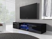 TV-meubel Basura I LED - Zwart - 160 cm