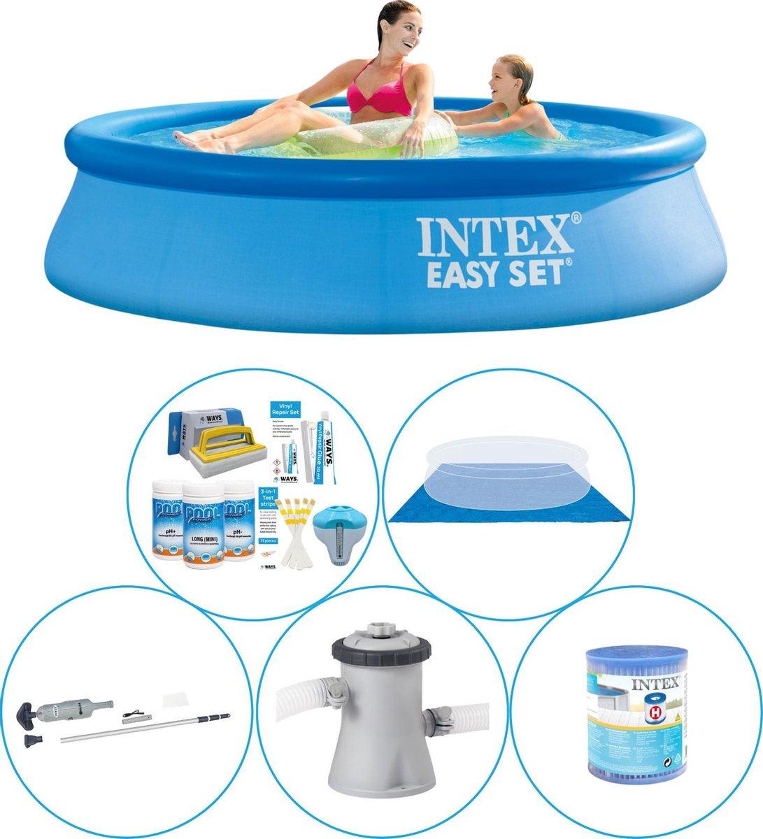 Intex Easy Set Rond 244x61 cm - 6-delig - Zwembad Inclusief Accessoires