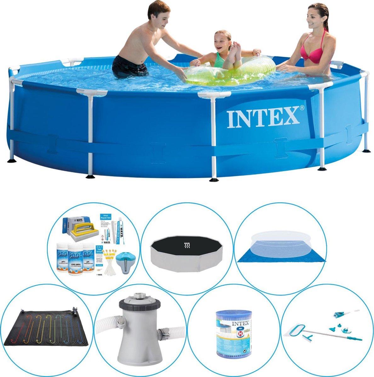 Intex Metal Frame Rond 305x76 cm - Alles in 1 Zwembad Set