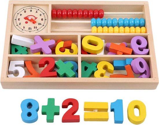 Afbeelding van het spel Houten speelgoed - leren klokkijken en rekenen
