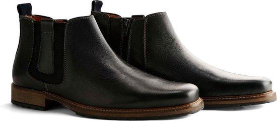 Travelin London Chelsea - Nette Leren Chelsea Boots - Heren - Donkergrijs - Maat 45