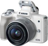 Canon EOS M50 + EF-M 15-45mm f/3.5-6.3 IS STM + EF-M 55-200mm f/4.5-6.3 IS STM SLR camerakit 24,1 MP CMOS 6000 x 4000 Pixels Wit