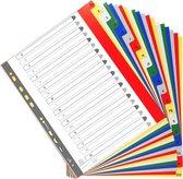 20x Tabbladen met bedrukte tabs in gekleurde PP - 20 tabs - A tot Z - A4 maxi, Geassorteerde felle kleuren