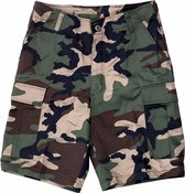 Shorts met camouflage print L