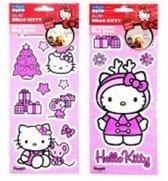 Hello Kitty Kerst muurstickers verwijderbaar
