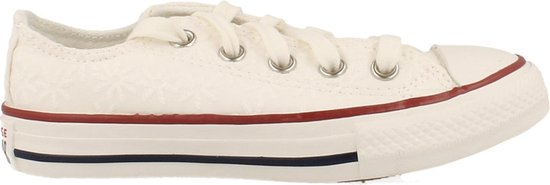 Converse Sneaker Laag Meisjes/dames Maat 27/38 Trend Clean White - Wit   30
