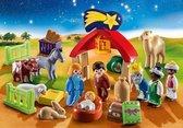 """PLAYMOBIL Christmas 1.2.3 Adventskalender """"Kerststal"""" - 70259"""