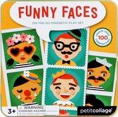 Magneetspel - Grappige gezichten | Petit Collage