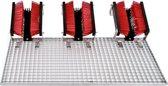 FloorMAX Exklusiv Plus professionele voetenveger - Schoenborstel met rooster drievoudig