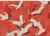Placemat: Woman haori with Red and White Cranes, Collection Rijksmuseum