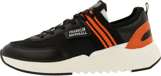 Franklin & Marshall Alpha Match Sneaker Men Blk-Orng 41