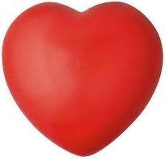 Stressbal rood hartje 7 cm - Valentijn of liefde huwelijk geschenk cadeau artikelen