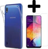 Samsung Galaxy A10 Hoesje Siliconen Case Hoes Met Screenprotector