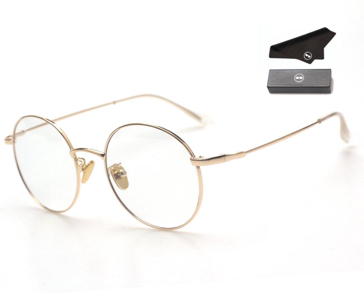 LC Eyewear Computerbril - Blauw Licht Bril - Blue Light Glasses - Metaal - Unisex - Goud