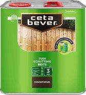 CetaBever Tuin Schutting Beits - Waterafstotend - Donker bruin - 2,5 liter